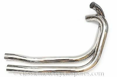 T100 Triumph 5T 70-1520 UK Made Great Quality 70-1519 Exhaust Pipes 1939-52