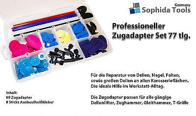 18× Ausbeulwerkzeug Klebeadapter Dellenlifter Set Gleithammer PDR Tabs Abzieher