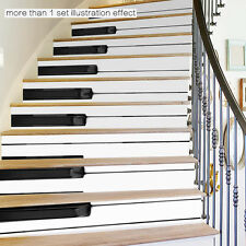 piano keys 3D Stairs Tile Risers Mural Vinyl Decal Wallpaper Stickers Decor 6pcs
