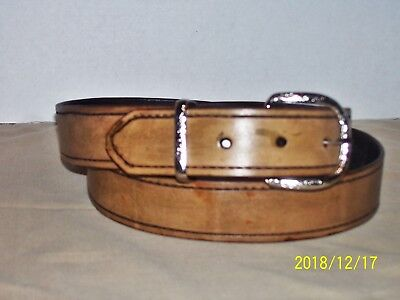 ONE AND A HALF INCH WIDE LEATHER BELT HAND CRAFTED BY MASTER LEATHERSMITH