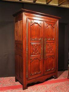ancienne armoire bretonne patine sang de boeuf 19 m ling re meuble ebay. Black Bedroom Furniture Sets. Home Design Ideas