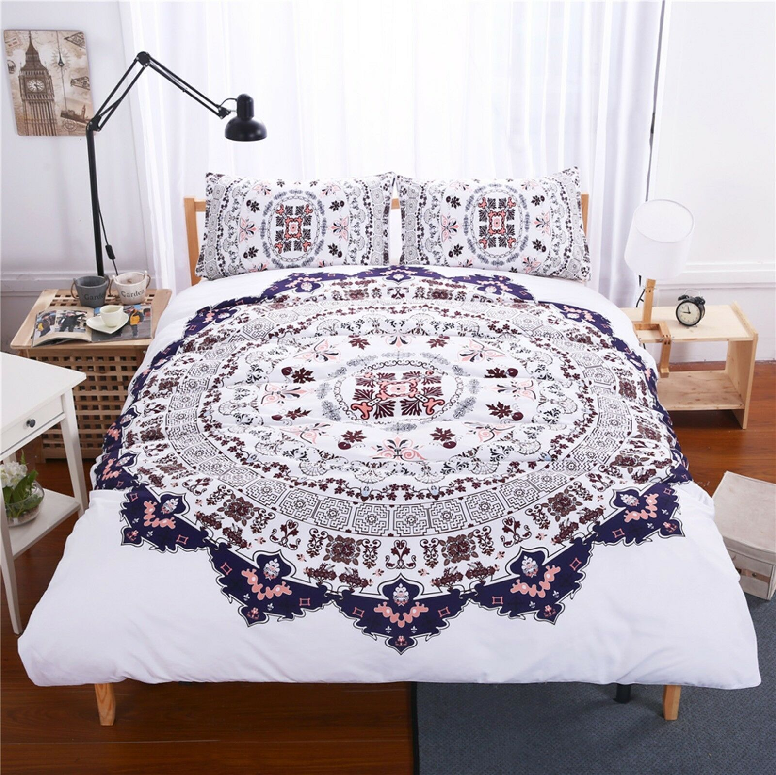 3D color Pattern 4083 Bed Pillowcases Quilt Duvet Cover Set Single Queen CA