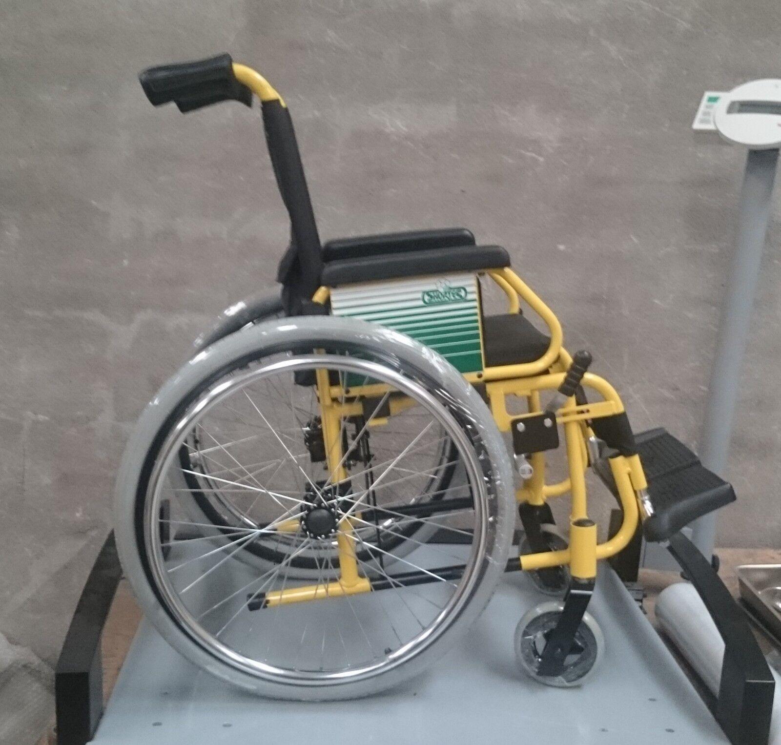 s l1600 - Silla de ruedas para niños, acolchada, superligera, desmontable y resistente.