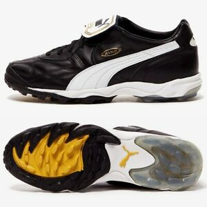 PUMA-King-Allround-Turf-TT-homme-en-cuir-chaussures-de-football-6-13-Noir-Astro-Baskets