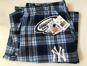 Nuevo New York Yankees Mujer Pequena Pantalones Del Salon A Cuadros Con Hilo Metalico Acento Ebay