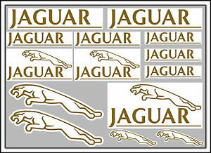 GOLD-JAGUAR-decal-set-14-quality-printed-and-laminated-stickers-free-delivery