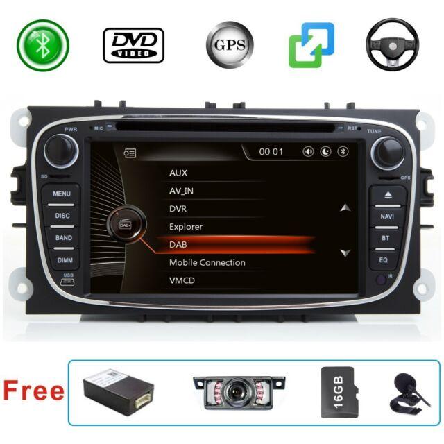 DAB+ Car Stereo Radio Map for Ford Focus Mondeo S/C-Max Galaxy Sat Nav GPS Black