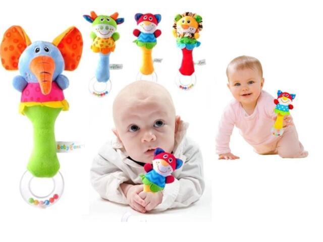 GOUS Lovely Baby Kid Soft Animal Model Handbell Rattles Handle Developmental Toy