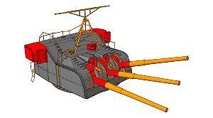 100 mm tourelle Mk.53 1//400