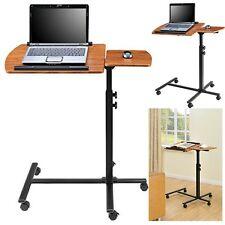 Laptop Cart Desk Stand Rolling Adjustable Bed Sofa Site Mobile Computer Table