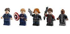 LEGO MINIFIGURES MARIA HILL NICK FURY CAPTAIN AMERICA BLACK WIDOW HAWKEYE 76042