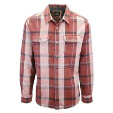 prAna Men's Red & Black L/S Flannel Shirt (S14)