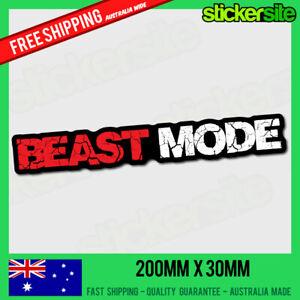 BEAST-MODE-Sticker-Decal-FUNNY-DRIFT-JDM-4WD-JOKE-illest-s13-s14-s15-Skyline