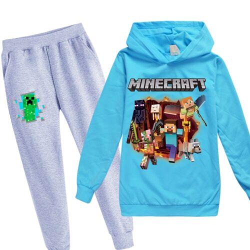 Cartoon Hooded Sportwear Kids Sweatshirt 2Pcs Hoodies Top+Pants Tracksuit Set
