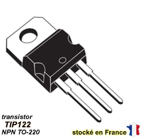 100V 5A C22.5 Transistor TIP122 polarité NPN boitier TO-220 TO220
