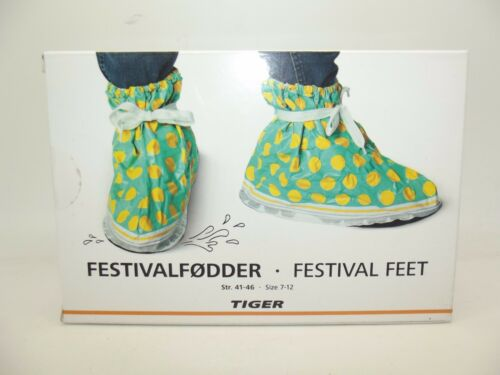 NEW UNISEX FESTIVAL FEET SHOE TRAINER COVERS TO PROTECT FROM MUD WATER 3-12