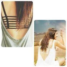 Pack of 2 Padded /  Black & Skin / Multiple back straps Sports bra Bralette Bra