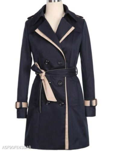 Ladies Trench Trench Coat Black Ladies Belted Coat Belted Black rf61r