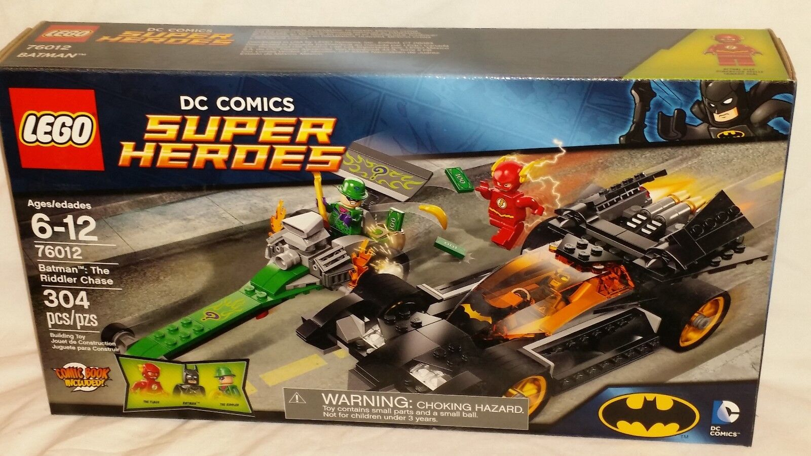 SEALED 76012 LEGO Batman: The Riddler Chase with Batmobile Flash 304 pc RETIROT