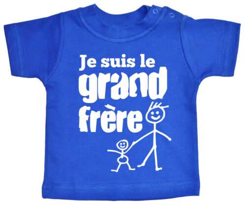 """French Brother T-shirt /""""Je Suis le Grand Frere/"""" I/'m Big Brother France Gift"""