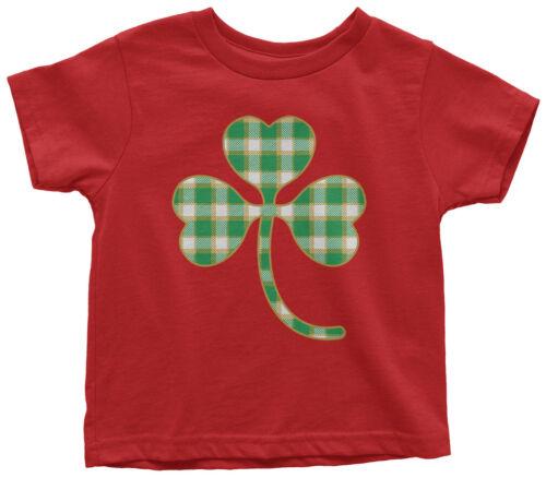 Plaid Shamrock Toddler T-Shirt St Patrick/'s Day Irish Pride Gift