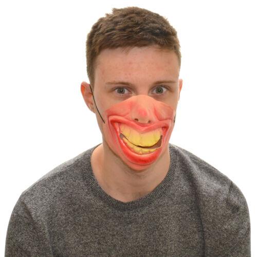 Visage moitié énorme sourire funny fancy dress latex masque pour enfants /& adultes halloween