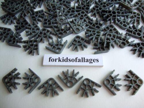 200 KNEX DARK GRAY GRANITE CONNECTORS 3 Position Speckled Bulk Parts//Pieces Lot