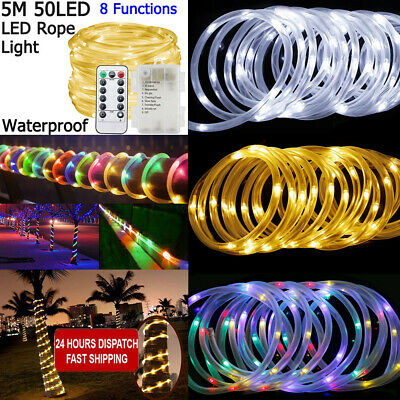 10M-200M Fairy String Lights LED Mains Clear Cable Wedding Christmas Party DIY