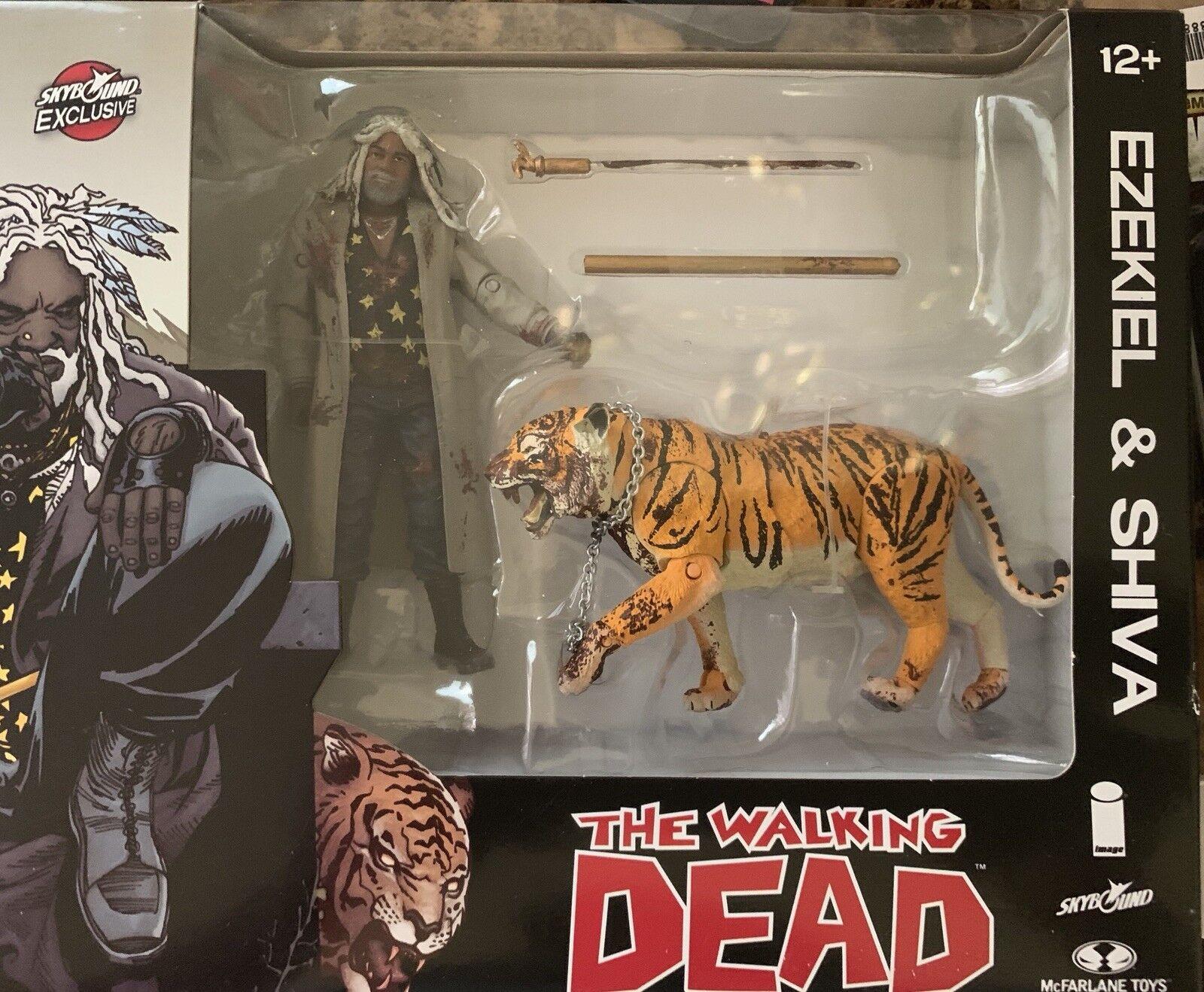 The Walking Dead Bloody Ezekiel & Shiva All Out War Action Figures
