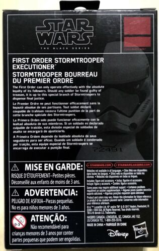 Star Wars The Black Series First Order Stormtrooper Executioner Action Figure