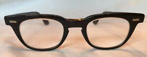 Vintage-Retro-1950-s-60s-Black-Plastic-Frames-Women-s-Cat-Eye-Glasses-Eyeglasses