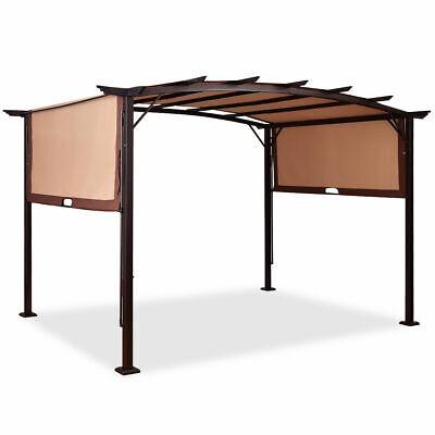 12 X 9 Pergola Kit Metal Frame Gazebo Canopy Cover Patio Furniture Shelter Ebay