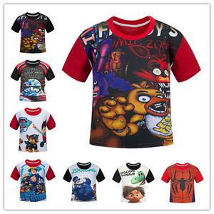 2016-Five-Nights-At-Freddy-FNAF-amp-Fire-man-Sam-T-shirt-Kids-Children-Clothing