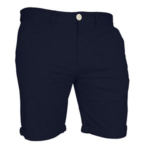 Mens-Chino-Shorts-Casual-Cargo-Combat-Flat-Front-100-Cotton-Half-Pant
