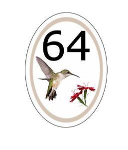 Details about  /House,door,caravan name or number  Oval PASTEL Design Plaque//sign YOUR NUMBER