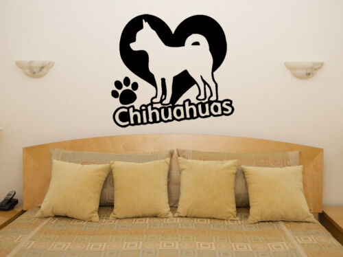 Chihuahua Pet Animal Living Room Dining Bedroom Decal Wall Art Sticker Picture 3