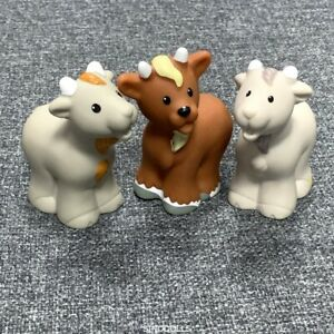 3X-Fisher-Price-Little-People-Billy-Goat-Replacement-Nativity-Farm-Animal-toys