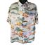 Route-66-Mens-Hawaiian-Shirt-Palm-Trees-Ships-Floral-Rayon-L thumbnail 1