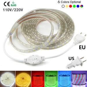 IP67 Waterproof SMD 5050 LED Strip Lights 110V 220V Flexible Tape Rope Light