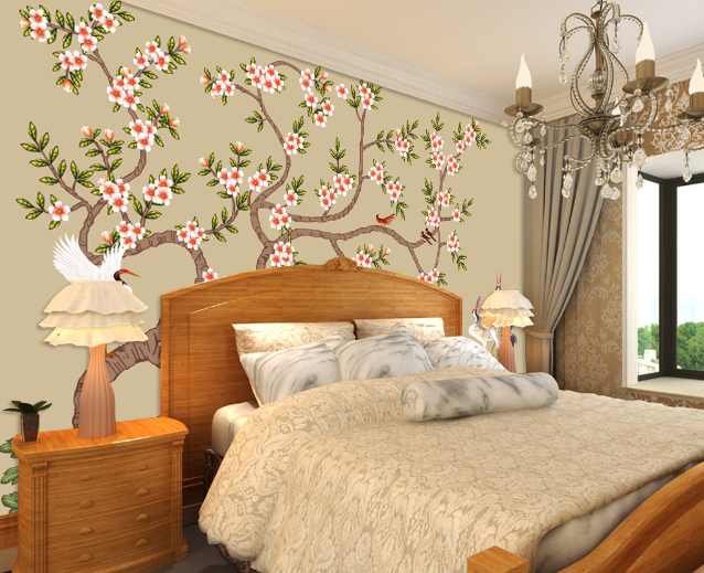 3D Peach Dove 604 Wallpaper Murals Wall Print Wallpaper Mural AJ WALL UK Lemon