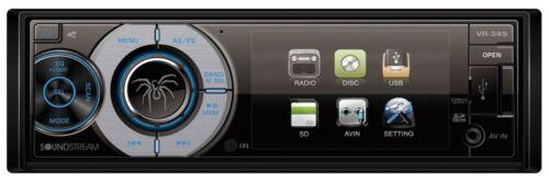 "SOUNDSTREAM VR-345 Single DIN A/V Source Unit w/ Detachable 3.4"" LCD Screen"
