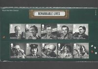 GB 2014 REMARKABLE LIVES STAMP PRESENTATION PACK