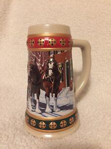 image is loading budweiser anheuser busch christmas stein hometown holiday 1993 - Budweiser Christmas Steins