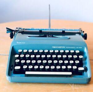 Remington Personal-Riter Portable Manual Typewriter w/Case, Works!