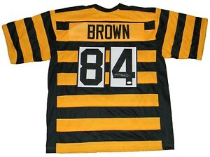 Image is loading ANTONIO-BROWN-SIGNED-AUTOGRAPHED-PITTSBURGH-STEELERS -84-BUMBLEBEE- a16142e59