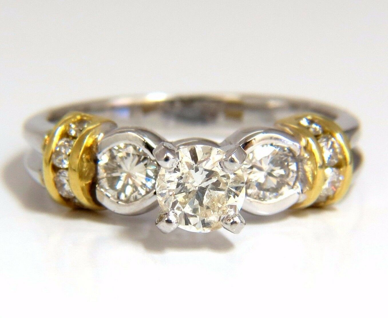 .75CT CLASSIC TRADITIONAL DIAMOND RING 14KT goldEN SHOULDERS+