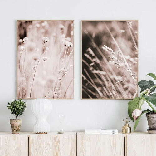 Grass Nature Wall Art Canvas Poster Landscape Print Nordic Decoration Picture