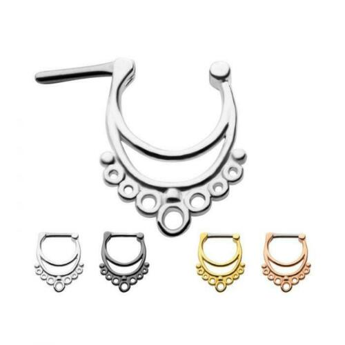 Details about  /Surgical Steel New smaller gauge Septum Clickers in 1mm bar in 6.5 mm wearable l