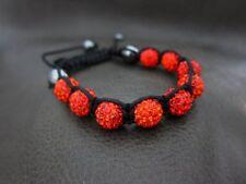 Genuine Crystal RED Sun Ball Charm Korne Bracelet Wrap for Shamballa Lover