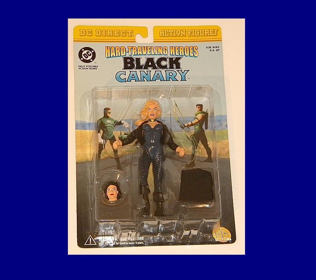 DC Canario Perfecto En Negro DIRECT-tarjeta rara figura de acción de DC COMICS